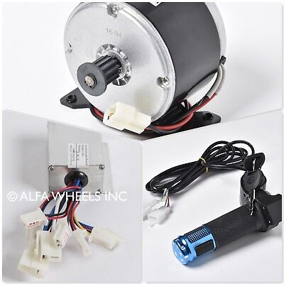 250w 24v Dc Scooter Electric Pulley Motorspeed Controllerblue Digital Throttle