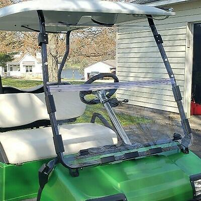 Fold Down Clear Golf Cart Windshield For Club Car DS 2000.5 And Up