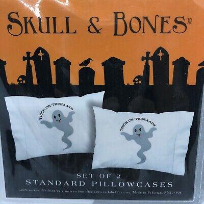 een GHOST Trick Or Treat STANDARD PILLOWCASES HALLOWEEN Pr.  (Halloween-pr)