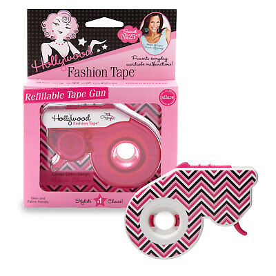 Hollywood Fashion Refillable Fashion Tape Gun and Double Sided Tape for Clothing