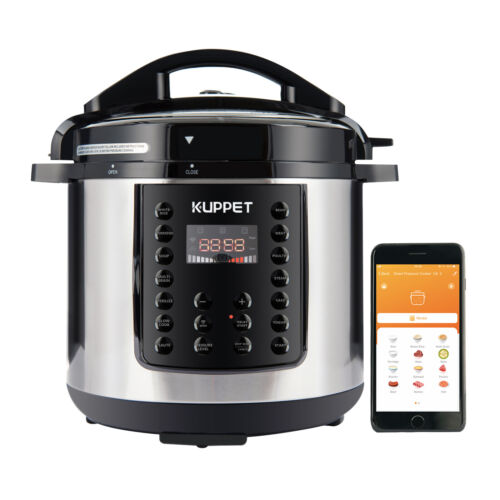 1000W 6QT Electric Digital Multifunction Pressure Cooker Sta