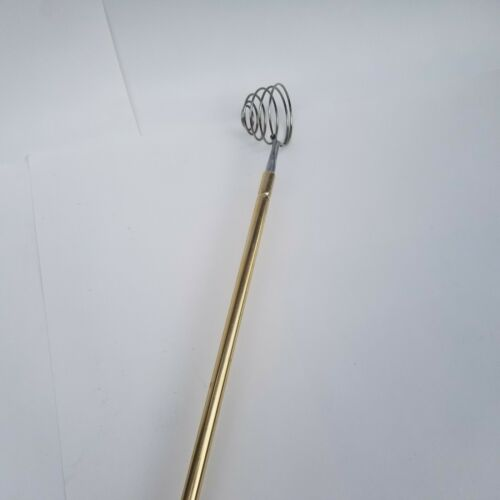 Golf Ball Water Scooper Retriever Wire Gold Vintage