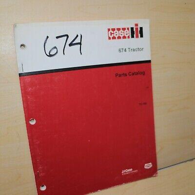 Case Ih International 674 Tractor Parts Manual Book Spare Catalog Farm Factory