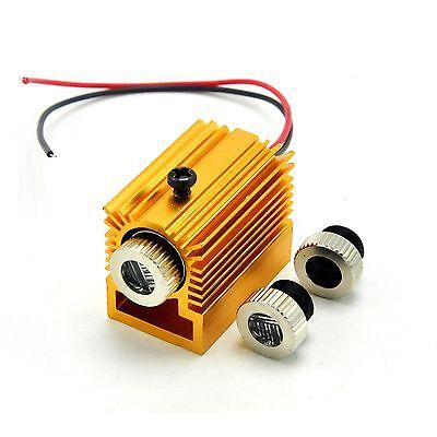 405nm 10mw Violetblue Focusable Dot Line Cross Laser Module W Golden Heatsink