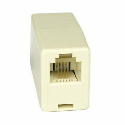 4C RJ11 Telephone Phone Jack Line Coupler Adapter Connector for Exten Cord Beige Consumer Electronics