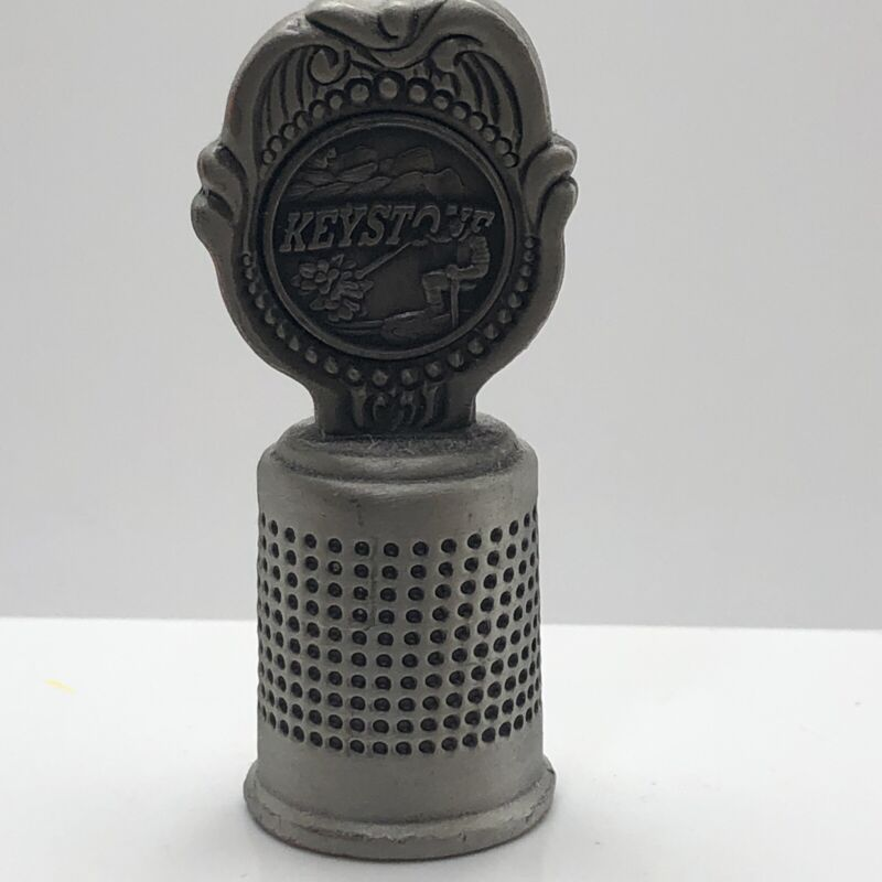Keystone Colorado Souvenir Pewter Thimble w/ Skier Topper by Classic Collection
