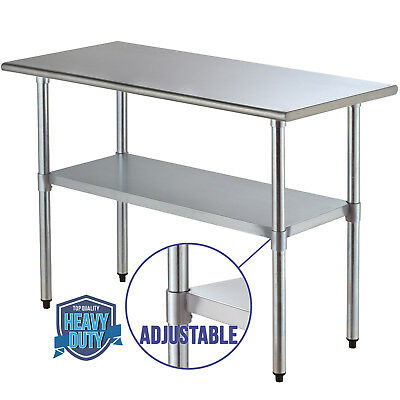 Work Table Food Prep Commercial Stainless Steel Kitchen Restaurant 24x48