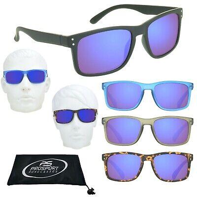 Sunglass Readers Horn Rimmed Full Lens Tinted Reading Glasses Blue Mirror - Horned Rimmed Glasses