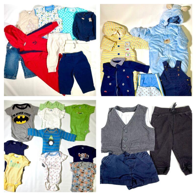 Baby Boy Clothes Lot 28 Pieces Newborn to 9 Months Gerber Koala Baby Okie Dokie+