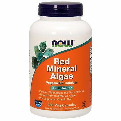 Now Foods RED Marine MINERAL ALGAE Calcium Magnesium 3.5g JOINT HEALTH 180 caps
