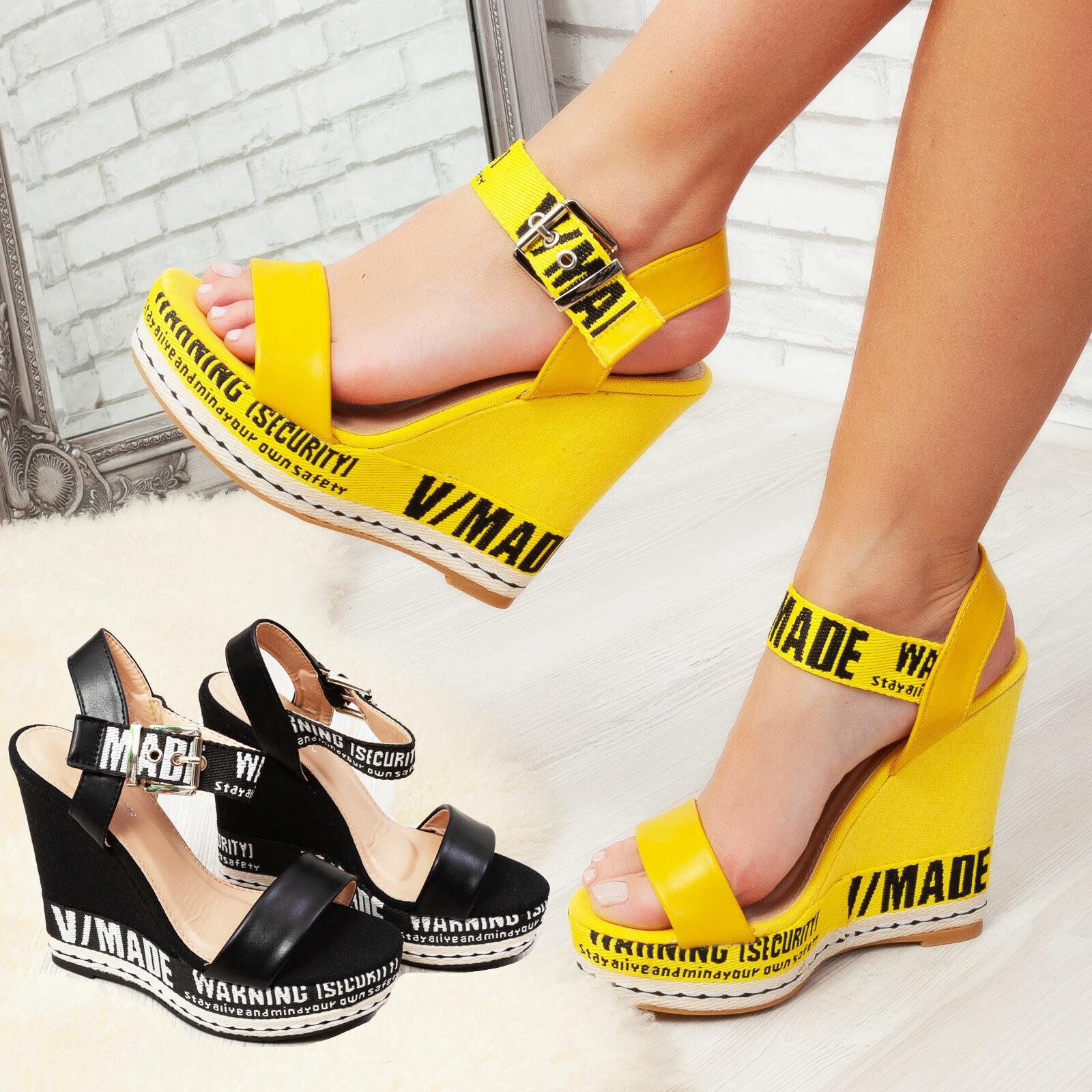 Alto Escrito Tacón Zapatos Cuña Detalles Toocool De Sandalias Zatteroni Zuecos Mujer thQsdrC