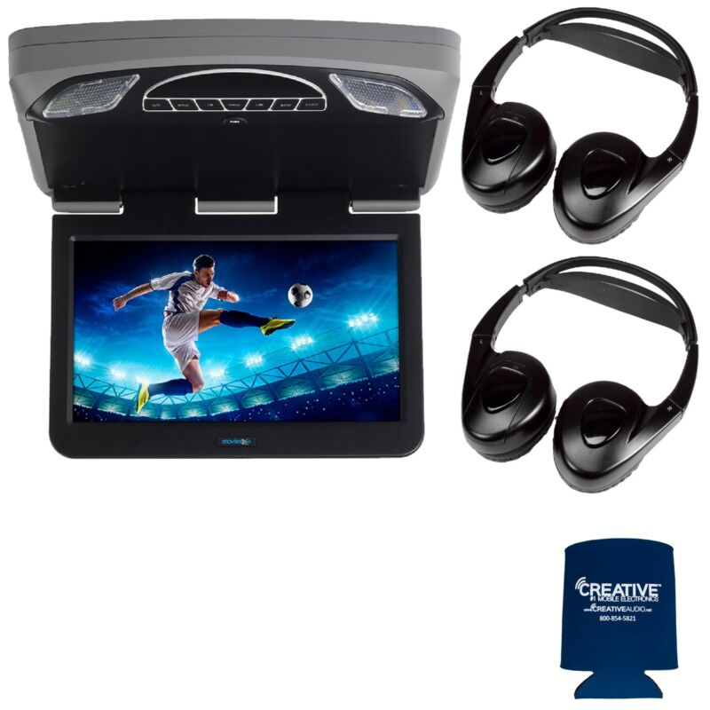 "Audiovox Overhead Mobile Video MTGBAVX13 13.3"" DVD and HDMI 2 pair of headphones"