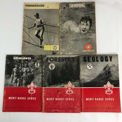 Boy Scout Books -Bundle of 5 vintage merit badge from 1960s forestry hiking more