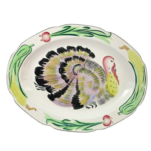Vintage Thanksgiving Turkey Platter Large
