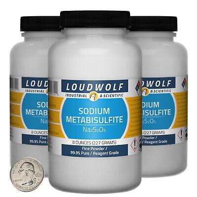 Sodium Metabisulfite 1.5 Lbs 3 Bottles 99.9 Reagent Grade Fine Powder