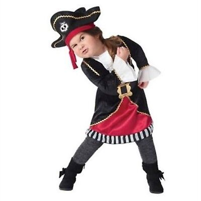 Toddler Girl Pirate Costume Dress Up Hat Target Halloween Size 18/24 Mo. 2T 3T (Target Toddler Halloween Costumes)