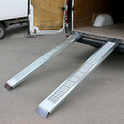 Steel Loading Ramps Trailer Van Truck Motorbike Quad Bike Lawn Mower 400KG 1.8M