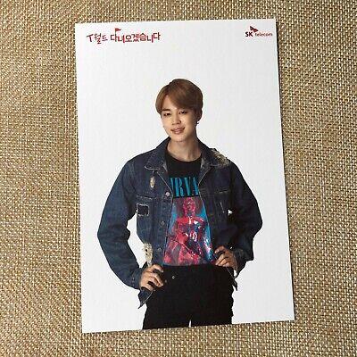 BTS JIMIN [ SKT Official Postcard Photocard Limited ] / New, Rare / + Gift