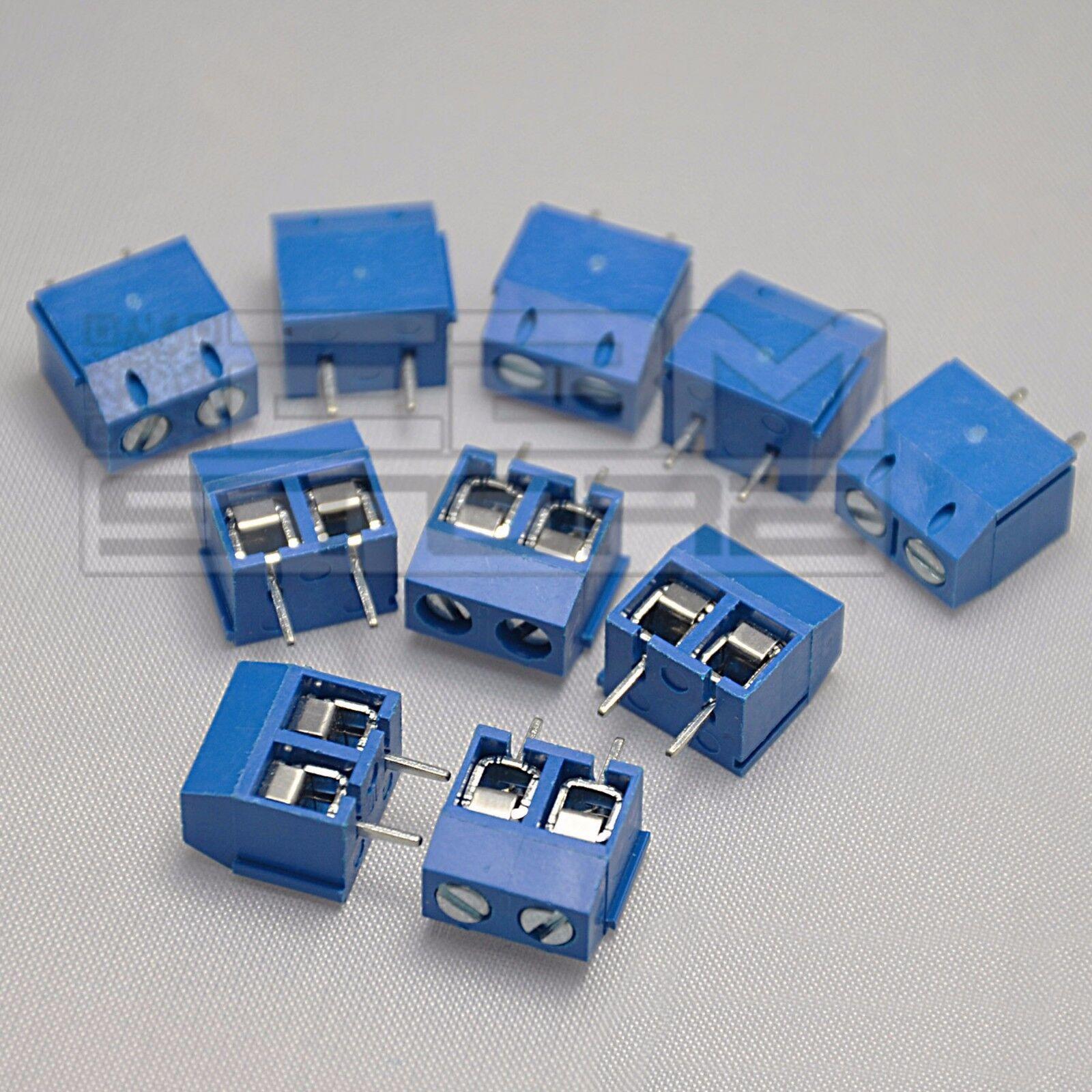 10 pz morsetti 2 poli H=10 Morsettiera PCB circuito stampato - ART. AZ11