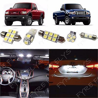 6x White LED lights interior package kit for 1998-2011 Ford Ranger FR1W