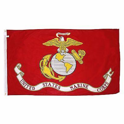 USMC UNITED STATE MARINE CORPS FLAG 3 X 5 SEMPER FI FIDELIS SPECIAL MAR. BARGAIN