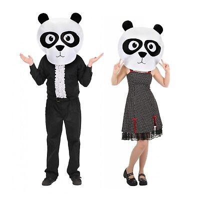 Adult Plush Panda Mascot Costume Mask Head MASKot Cute Animal Anime Funny Easy