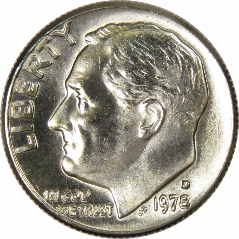 1978 D 10c Roosevelt Dime US Coin Uncirculated Mint State
