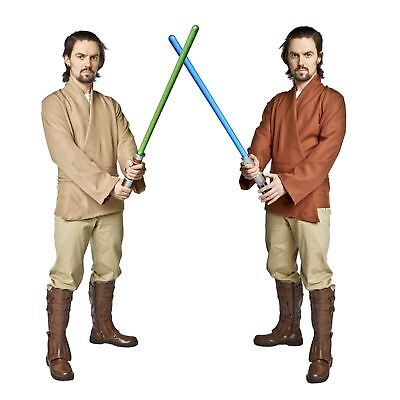 Star Wars Jedi Tunic Shirt Belt Luke Skywalker Obi Wan Men's Costume Khaki Brown - Skywalker Costume