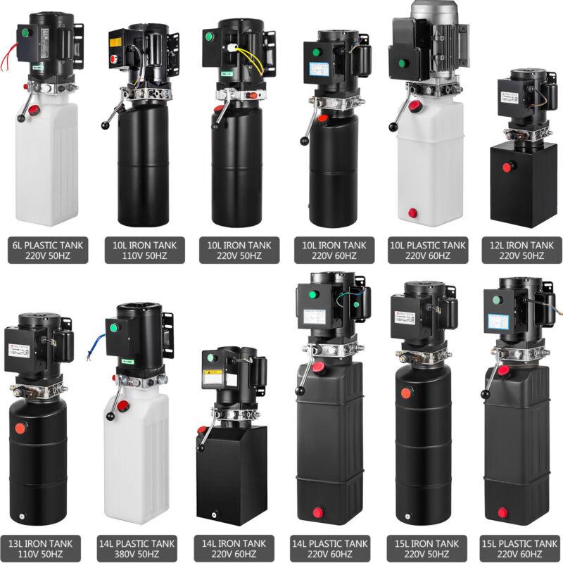 6/10/14/15L Car Lift Hydraulic Power Unit Pack Iron/Plastic Tank 110V/220V/380V