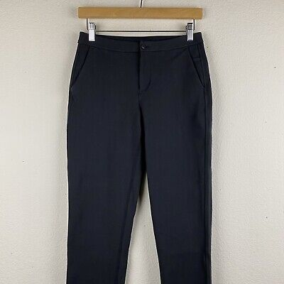 LULULEMON Black Work Size 4 Stretch CITY TREK PONTE Dress Pants Trousers M38