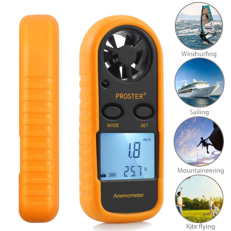 LCD Digital Handheld Anemometer Wind Speed Gauge Meter NTC Thermomoter 0-30m/s