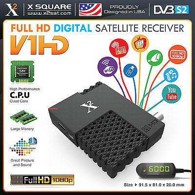 X2 V1 Mini HD DVB-S2 (FTA) with IPTV & PVR Hybrid Satellite Receiver (NEW) for sale  Shipping to South Africa