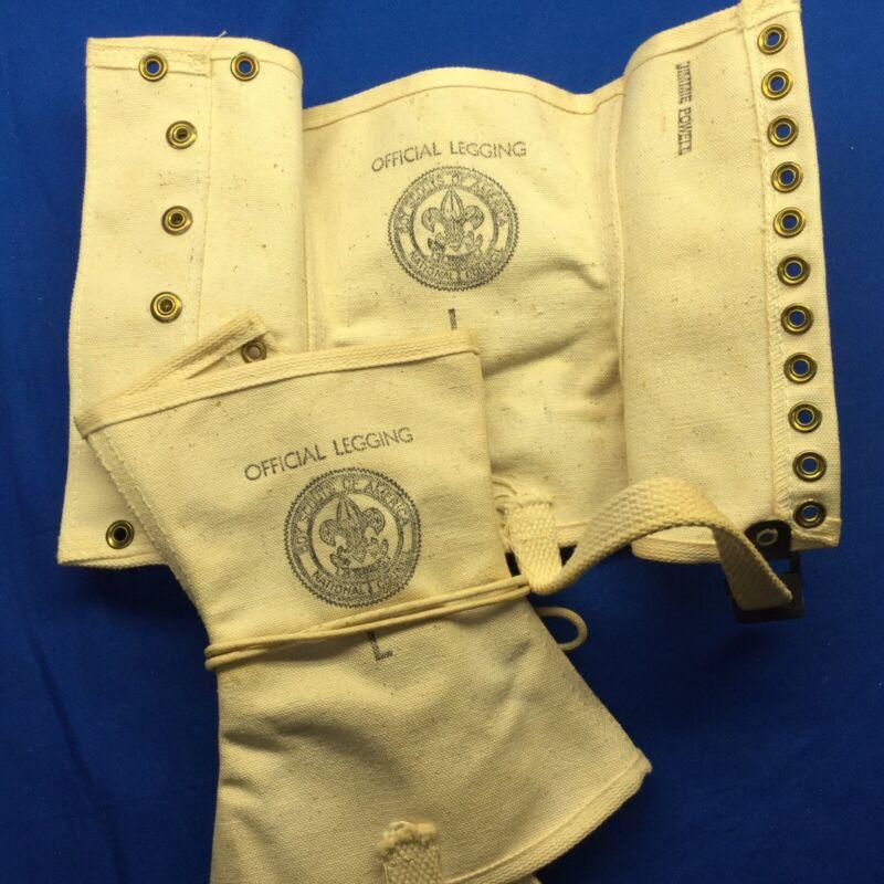Boy Scout White Explorers Official Legging Set Size L