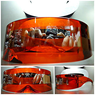 ALIEN ROBOT COSTUME PARTY CLUB RAVE CYCLOPS FUTURISTIC SHIELD SUN GLASSES (Cyclops Sun Glasses)