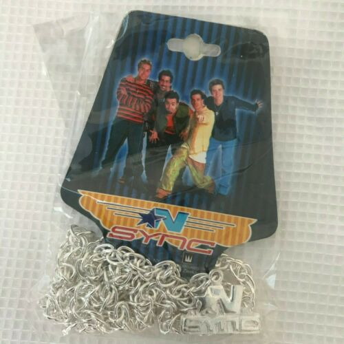 "New NSync Chain Necklace Silver Color 2001 Zeeks Made in Korea 12""  Gift"
