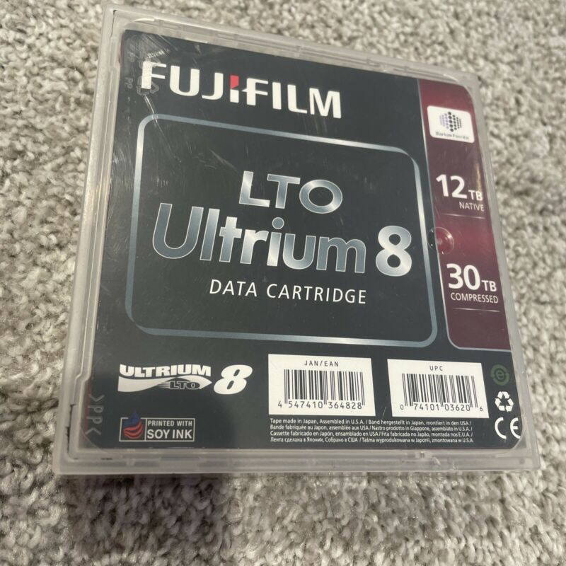 FUJI FILM LTO- 8 Ultrium Storage Backup Tape Cartridge # 16551221 | *New*