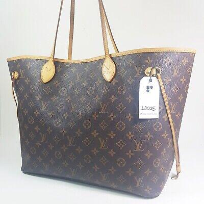 Authentic Louis Vuitton Neverfull GM Monogram M40157 Initials Engraved Bag LD025
