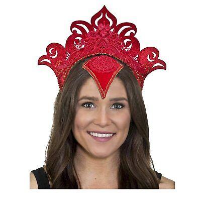Dead Princess Halloween (Adult Red Day of Dead Thai Princess Halloween Cosplay Costume Headpiece)