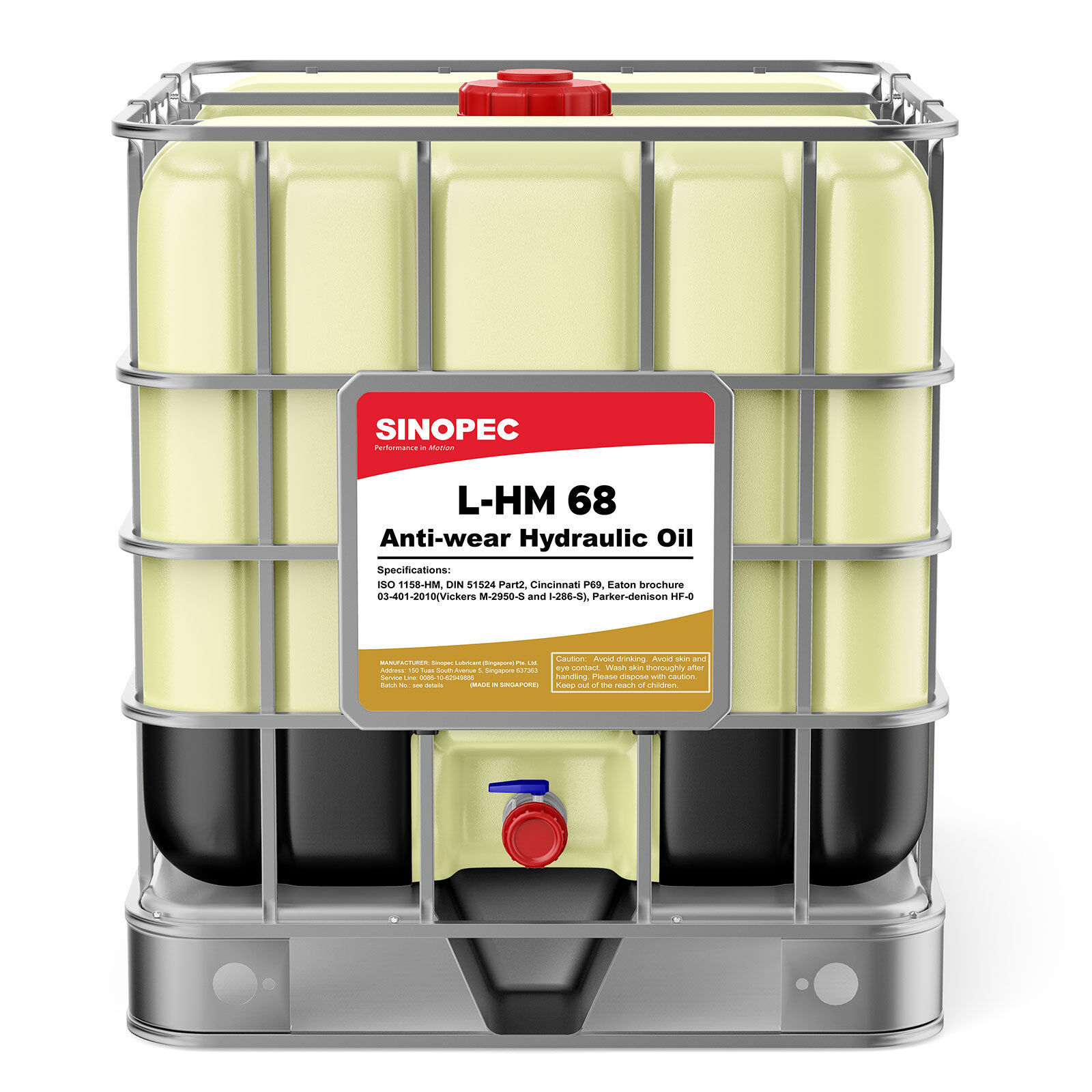 Details about Sinopec AW 68 Hydraulic Oil Fluid (ISO VG 68, SAE 20) - 275  Gallon IBC Tote