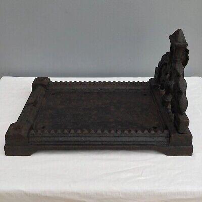 Antique Cast Iron Boot Scraper Victorian Garden Salvage Reclaimed Architectural