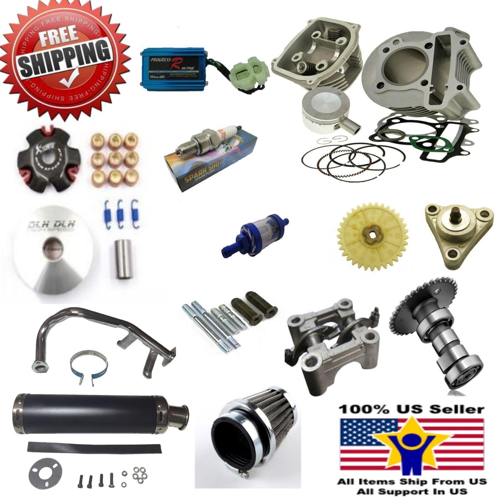 Запасная часть для скутера 80cc Big Bore Kit Performance Power Pack Black  Exhaust 139QMB Chinese Scoote - 112589372793 -