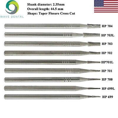 Wave Dental Carbide Surgical Carbide Burs Taper Fissure Hp 698 701 702 704 Prima