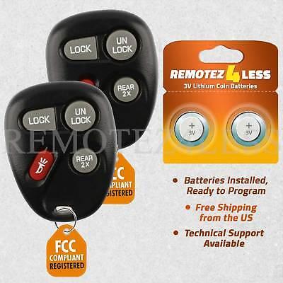 2 For 1997 1998 Silverado 1500 2500 3500 HD Remote Car Keyless Entry Key Fob