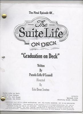 The Suite Life on Deck Script # 322 Graduation FINALE Last Show Sprouse