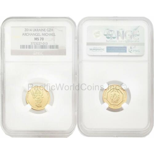 Ukraine 2014 Archangel Michael 1/10 oz Gold NGC MS70