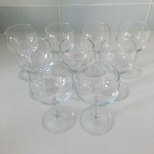 9 Short Stemmed Wine Glasses