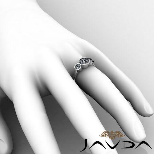 Platinum 1.6ct 3 Three Stone Round Shape Javda Diamond Engagement GIA F SI1 Ring 5