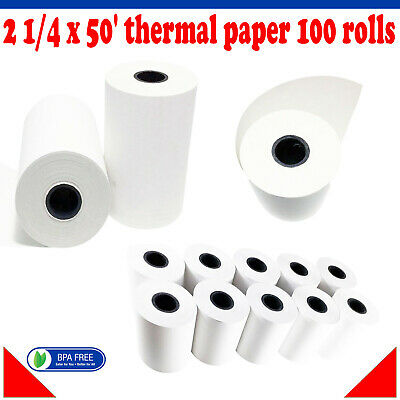 Verifone Vx680 Vx520 Thermal Receipt Paper 2 14 X 50 Thermal Paper 100 Rolls
