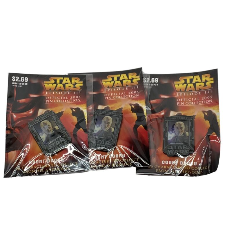 Count Dooku Lapel Pin x10 Star Wars Episode 3 Official 2005 Pin Collection New