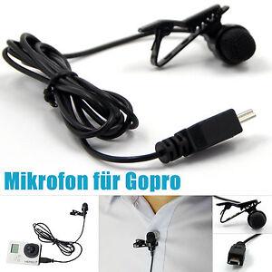 Externes-Mono-Aufnahme-Mikrofon-Microphone-f-Gopro-Hero-2-3-3-USB-Anschluss